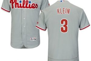 Phillies #3 Chuck Klein Grey Flexbase Authentic Collection Stitched MLB Jersey