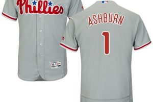 Phillies #1 Richie Ashburn Grey Flexbase Authentic Collection Stitched MLB Jersey