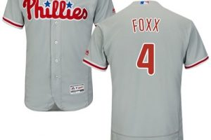 Phillies #4 Jimmie Foxx Grey Flexbase Authentic Collection Stitched MLB Jersey
