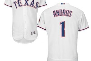 Rangers #1 Elvis Andrus White Flexbase Authentic Collection Stitched MLB Jersey