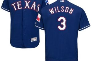 Rangers #3 Russell Wilson Blue Flexbase Authentic Collection Stitched MLB Jersey