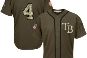 Rays #4 Blake Snell Green Salute to Service Stitched MLB Jersey