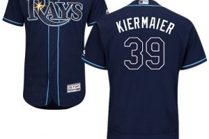 Rays #39 Kevin Kiermaier Dark Blue Flexbase Authentic Collection Stitched MLB Jersey