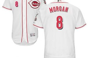 Reds #8 Joe Morgan White Flexbase Authentic Collection Stitched MLB Jersey