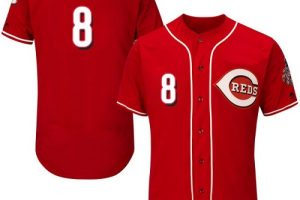 Reds #8 Joe Morgan Red Flexbase Authentic Collection Stitched MLB Jersey