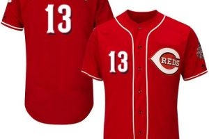 Reds #13 Dave Concepcion Red Flexbase Authentic Collection Stitched MLB Jersey