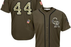 Rockies #44 Tyler Anderson Green Salute to Service Stitched MLB Jersey