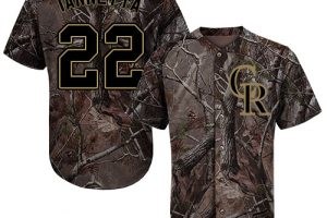 Rockies #22 Chris Iannetta Camo Realtree Collection Cool Base Stitched MLB Jersey