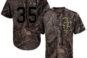 Rockies #35 Chad Bettis Camo Realtree Collection Cool Base Stitched MLB Jersey