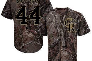Rockies #44 Tyler Anderson Camo Realtree Collection Cool Base Stitched MLB Jersey