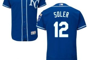 Royals #12 Jorge Soler Royal Blue Flexbase Authentic Collection Stitched MLB Jersey