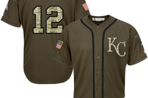 Royals #12 Jorge Soler Green Salute to Service Stitched MLB Jersey