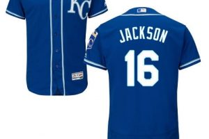 Royals #16 Bo Jackson Royal Blue Flexbase Authentic Collection Stitched MLB Jersey