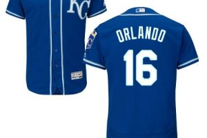 Royals #16 Paulo Orlando Royal Blue Flexbase Authentic Collection Stitched MLB Jersey