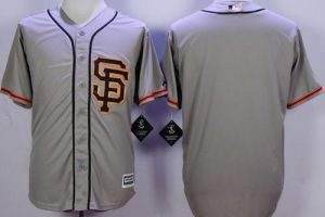 Giants Blank Grey Road 2 New Cool Base Stitched MLB Jersey