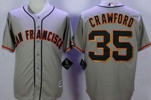 Giants #35 Brandon Crawford Grey Road New Cool Base Stitched MLB Jersey