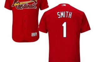 Cardinals #1 Ozzie Smith Red Flexbase Authentic Collection Stitched MLB Jersey