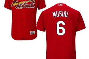 Cardinals #6 Stan Musial Red Flexbase Authentic Collection Stitched MLB Jersey