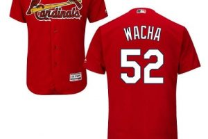 Cardinals #52 Michael Wacha Red Flexbase Authentic Collection Stitched MLB Jersey