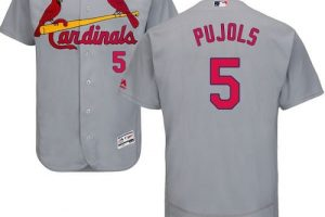 Cardinals #5 Albert Pujols Grey Flexbase Authentic Collection Stitched MLB Jersey