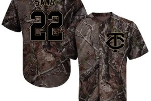 Twins #22 Miguel Sano Camo Realtree Collection Cool Base Stitched MLB Jersey