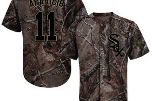 White Sox #11 Luis Aparicio Camo Realtree Collection Cool Base Stitched MLB Jersey