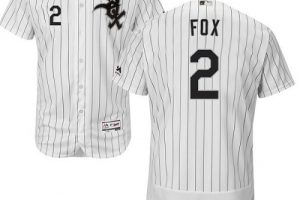 White Sox #2 Nellie Fox White(Black Strip) Flexbase Authentic Collection Stitched MLB Jersey