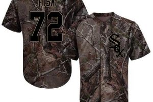 White Sox #72 Carlton Fisk Camo Realtree Collection Cool Base Stitched MLB Jersey