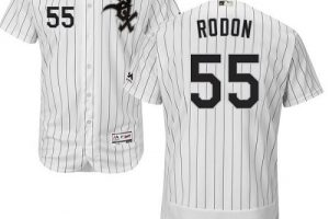 White Sox #55 Carlos Rodon White(Black Strip) Flexbase Authentic Collection Stitched MLB Jersey