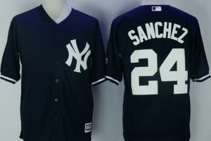 Yankees #24 Gary Sanchez Navy Blue New Cool Base Stitched MLB Jersey